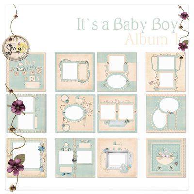 Baby Book/Family Photo Book Templates by Aneta Keel - PrestoPhoto