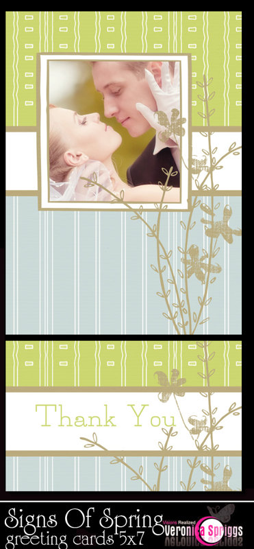 Signs Of Spring 5 x 7 Portrait Greeting Cards Template