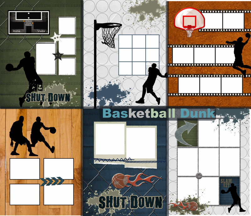 Yearbook Templates | Photo Book Template Yearbook Memory Basketball Dunk Quick Album