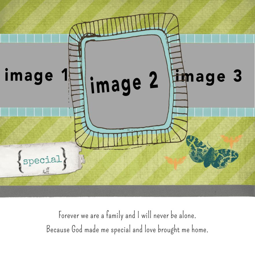 Photo Book Template: Love Brought Me Home: Buttons And