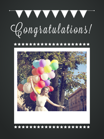 Congratulations Polaroid Card