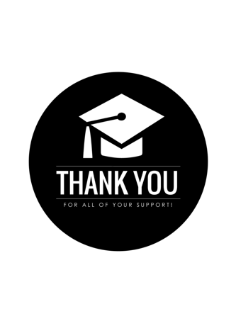 Graduation Simple Thank You Card
