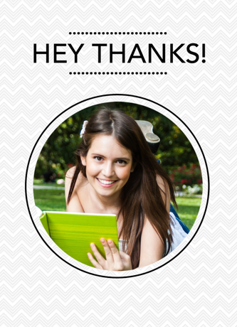 Greeting Card Portrait Template
