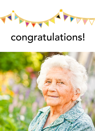 Congratulations or Blank Rainbow Banner Card