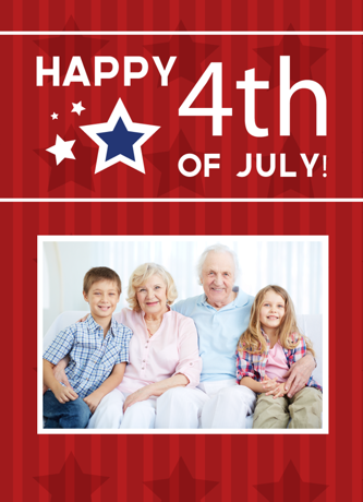 Fourth of July Family Card