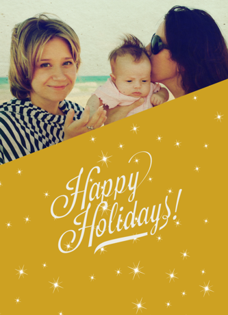 Happy Holidays Gold Card