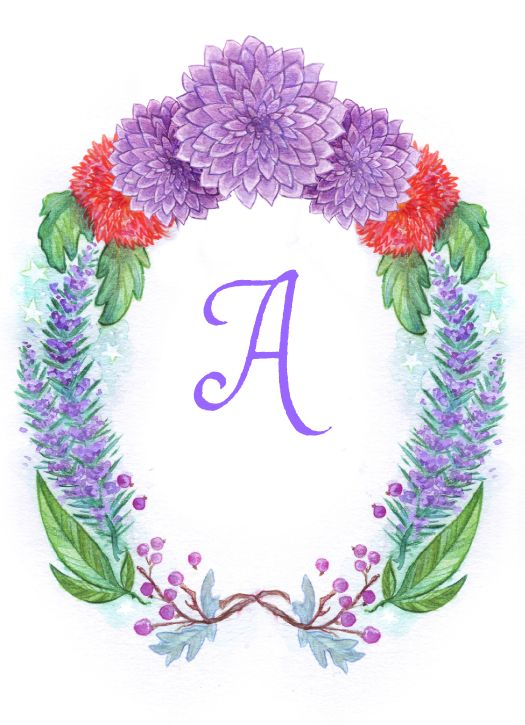 Floral Portrait stationery