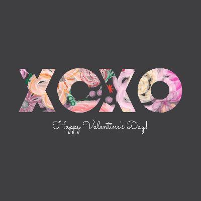 XOXO - Floral Grey