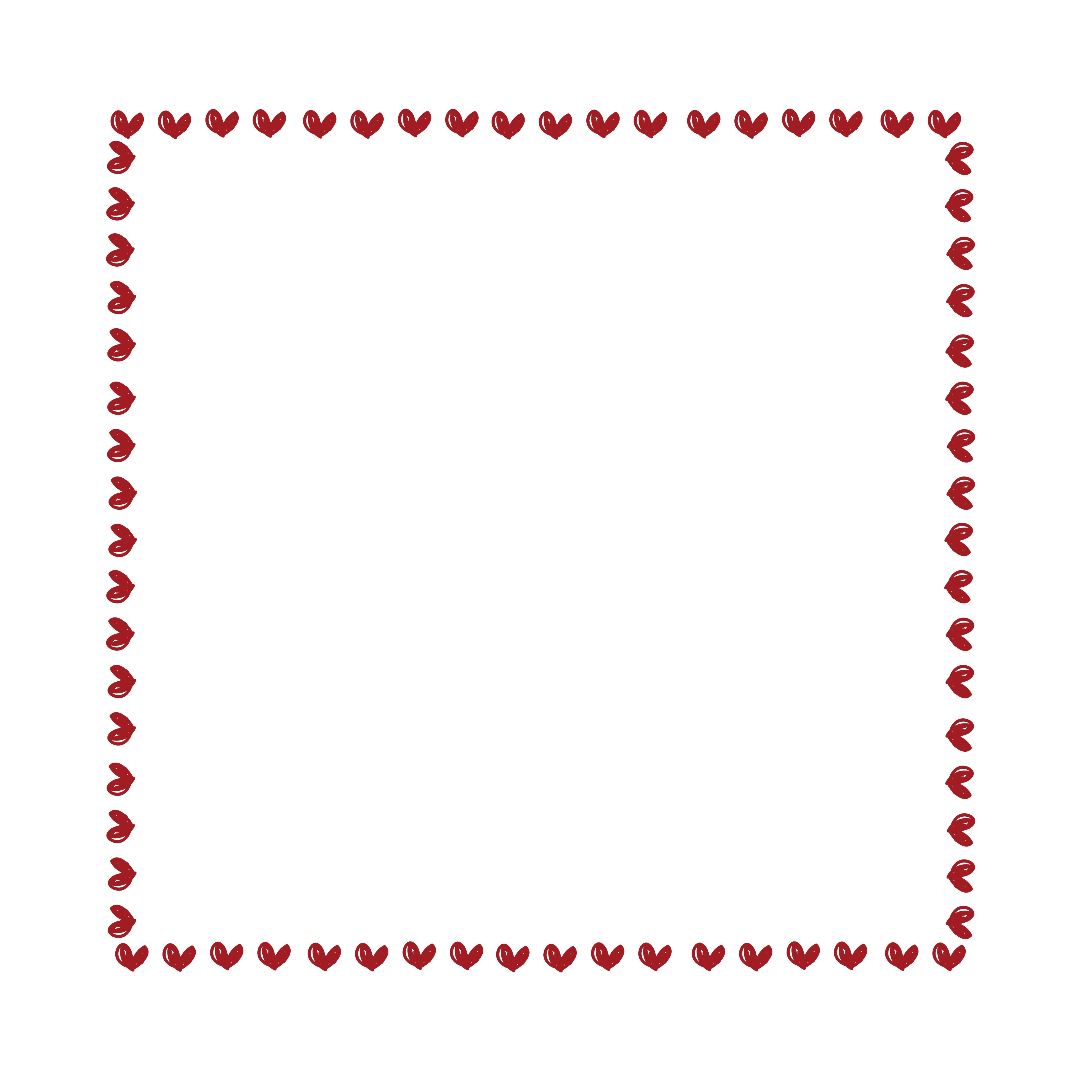 Border - Hearts - Red