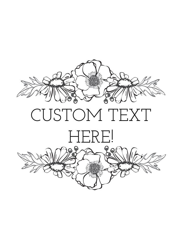 Thank You - CUSTOM TEXT