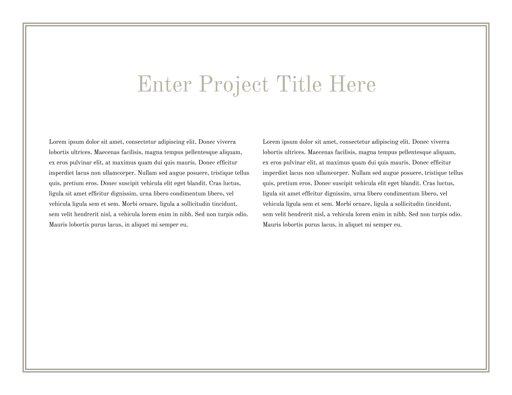 Title Page - 2 Columns