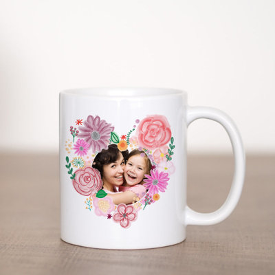 Floral Heart Coffee Mug Template