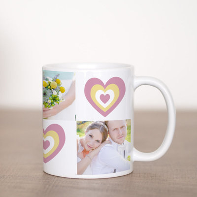 Heart Coffee Mug Template