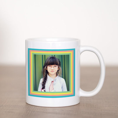 Rainbow Square Coffee Mug Template