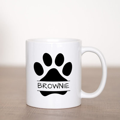 Dog Paw Coffee Mug Template