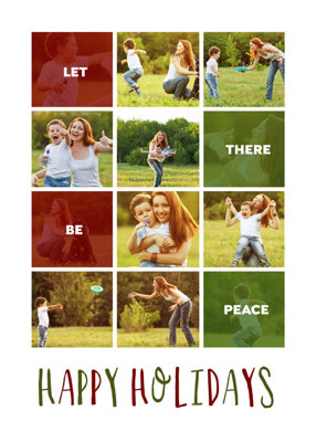 Let There Be Peace Greeting Card Template
