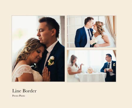 Line Border Photo Book Template