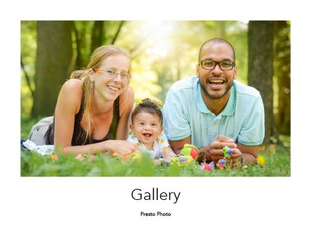 Gallery Photo Book Template