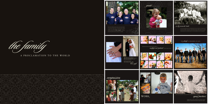photo book template the family proclamation book quick album prestophoto. Black Bedroom Furniture Sets. Home Design Ideas