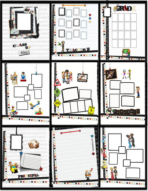 Yearbook School Days Template