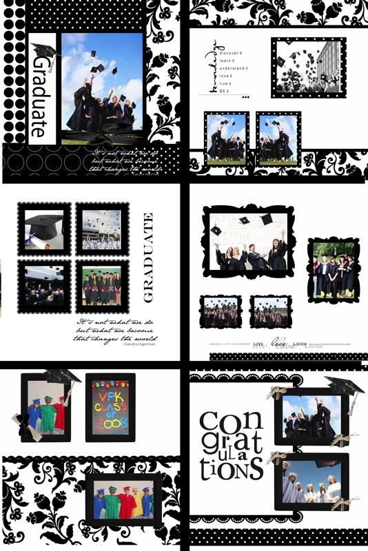 Photo Book Template  Graduation Memories - Quick Album