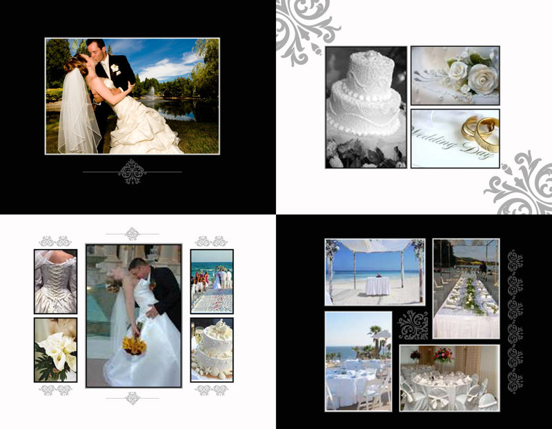 Wedding elegant scrolls Template