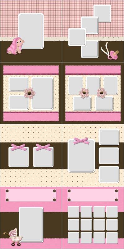 Photo Book Template Sweet Baby Girl Quick Album Prestophoto