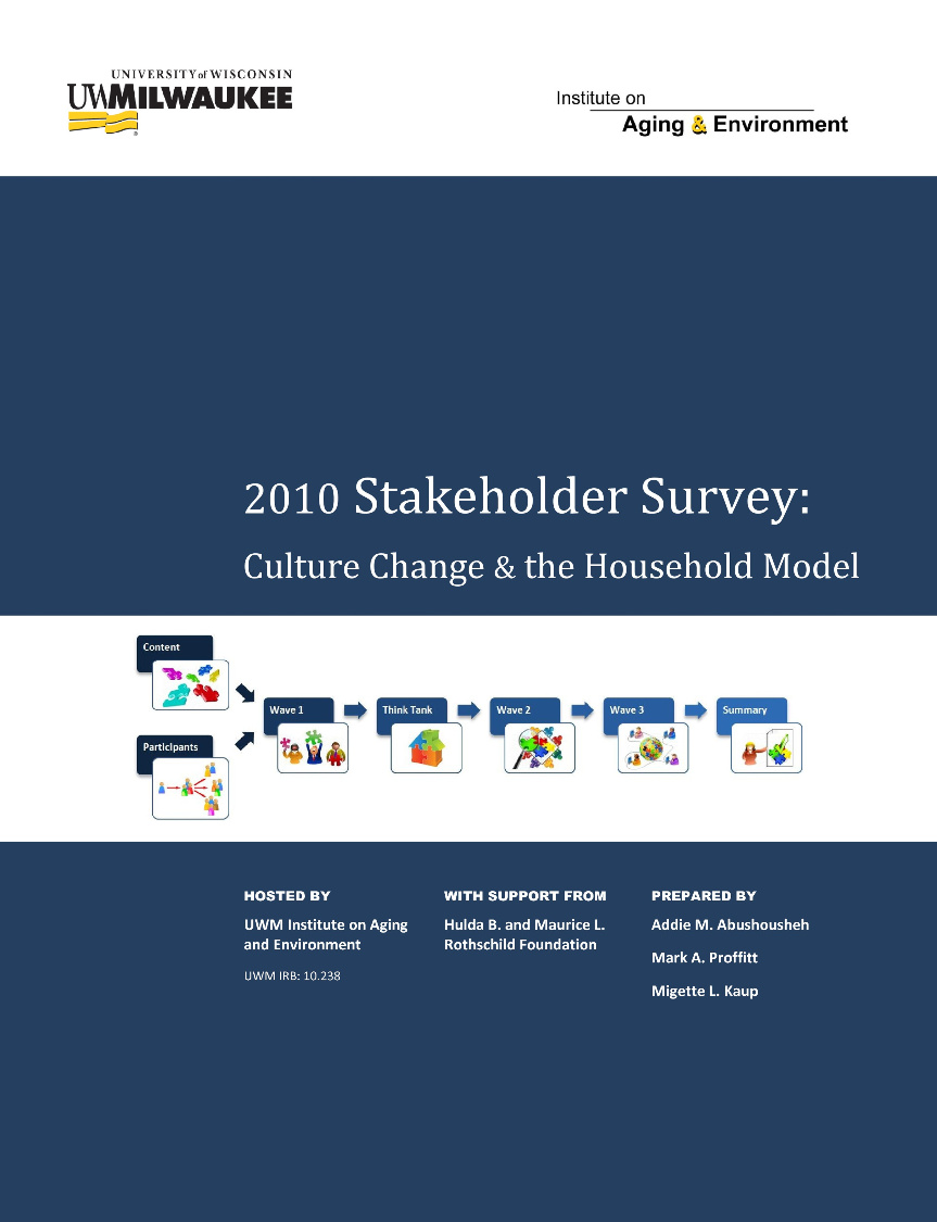 2010 Stakeholder Survey: Culture Change & The Household Model