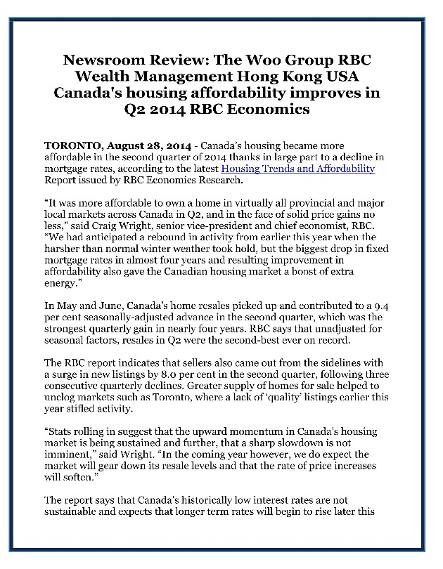 "newsroom review the woo group rbc Business continuity plan of the woo group rbc wealth management hong kong usa rbc capital markets, llc (rbccm llc or the ""firm"") is committed to protecting its employees, clients and  view article →."