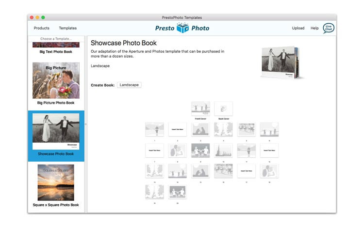 Use the Presto Photo Templates App