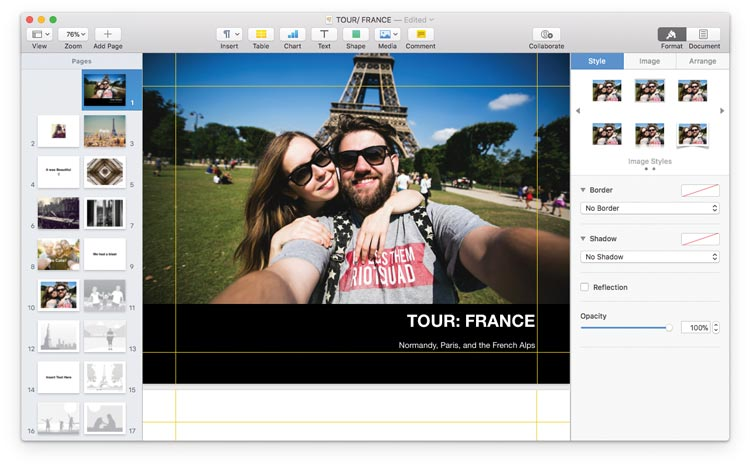 Create Book in Apple Pages