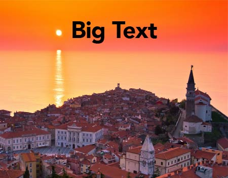 Big Text Template Cover