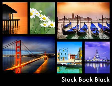 Stock Book Black Template Cover