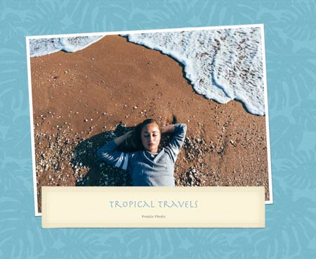 Tropical Travel Template Cover