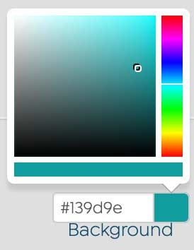 Screenshot of Background Color Picker