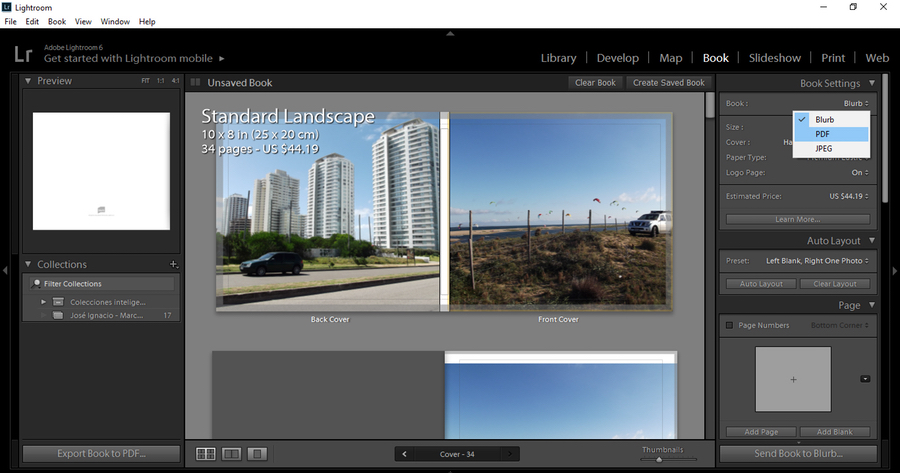 Adobe Lightroom Book Creation