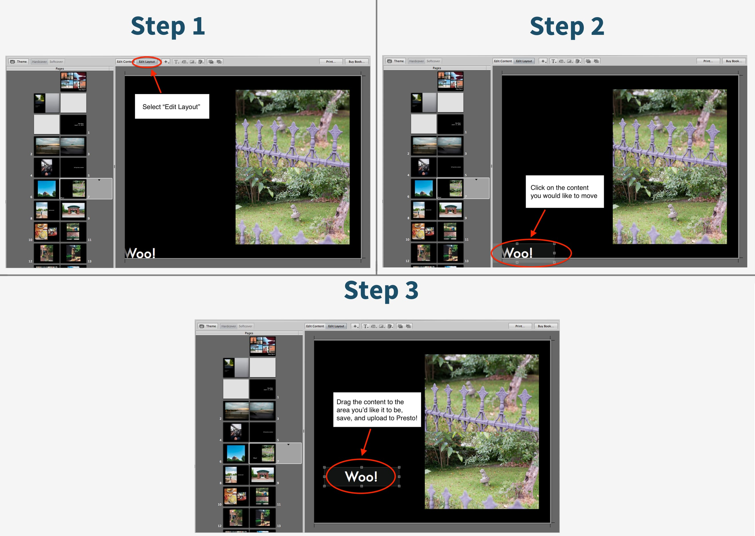 Adjust Text Placement In Aperture