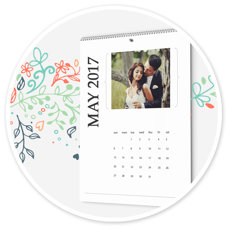 Photo book printing color book printing and calendar for Iphoto calendar templates
