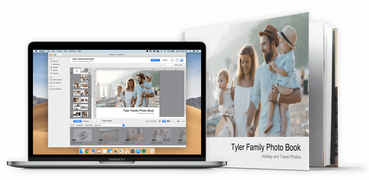 PrestoPhoto macOS App in Apple Photos with Photo Book