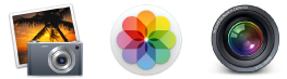Apple Photos iPhoto and Aperture Icons