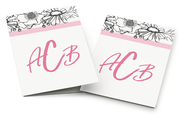 Stationery Monogram Banner Image