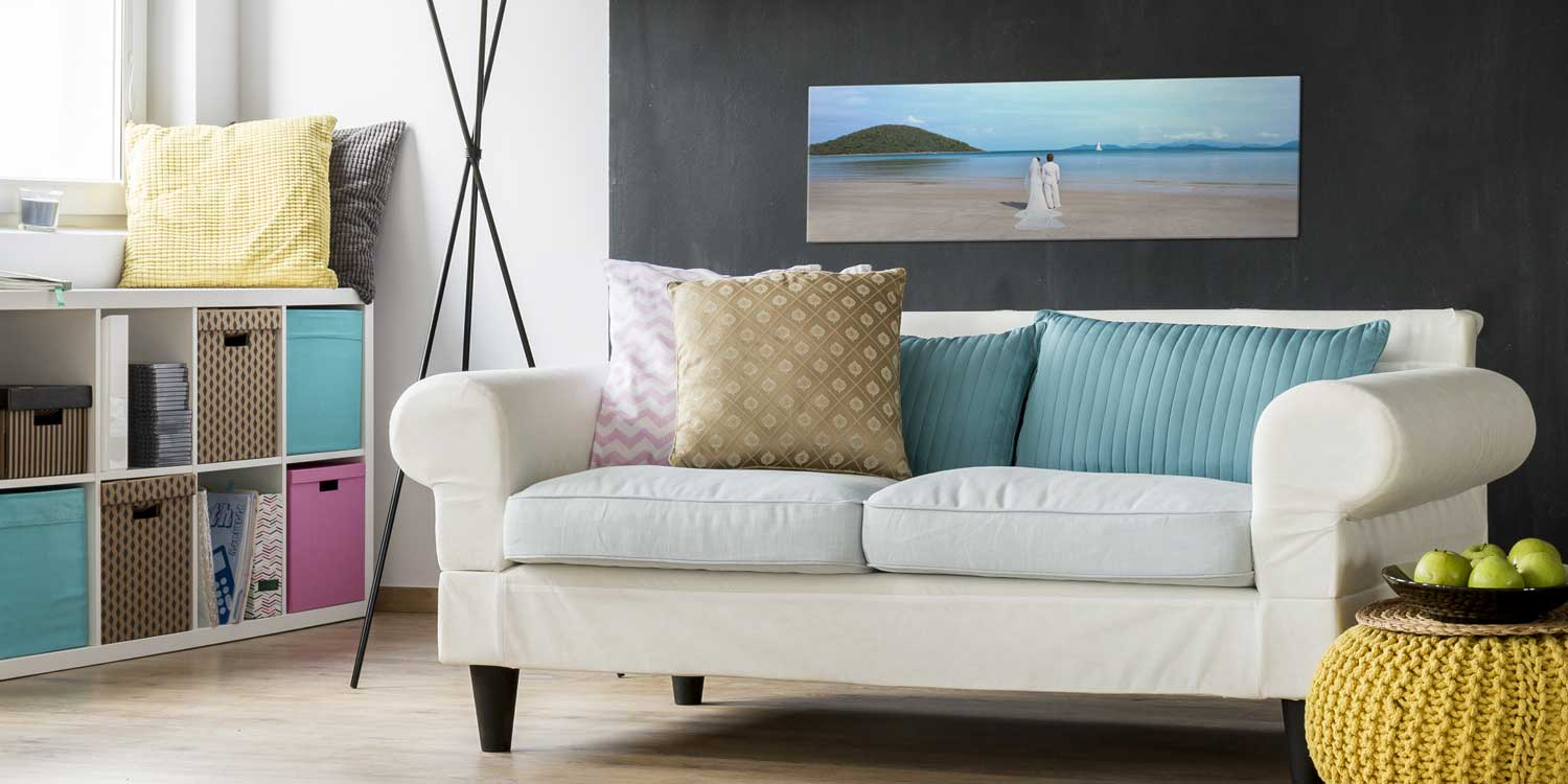Panoramic Acrylic Wall Print over Couch