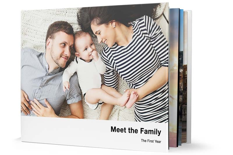 11 inch by 8.5 inch Hardcover Photo Book