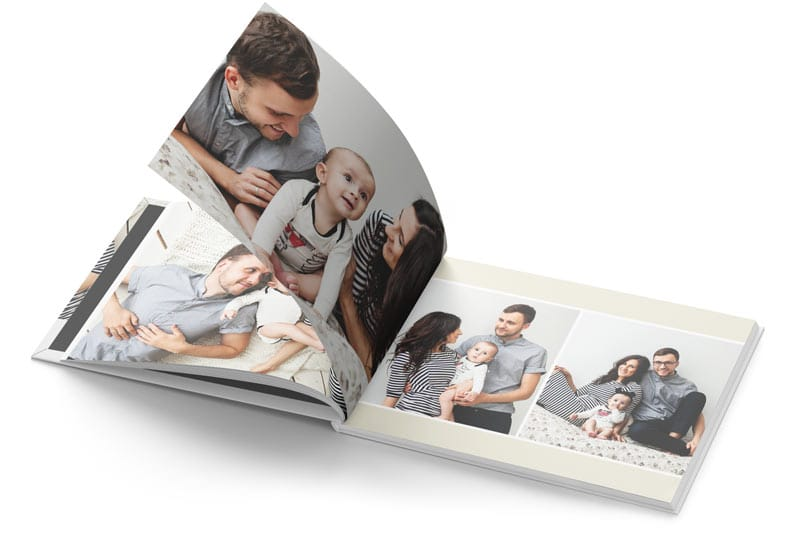 Open Hardcover Photo Book