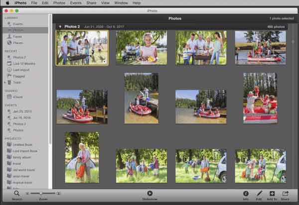 Creating an Album in iPhoto