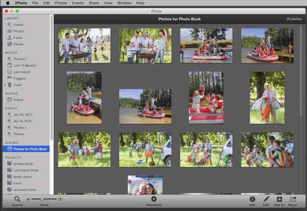 Start your Apple Photo Book Project
