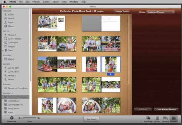 Move Pages around in your iPhoto Book