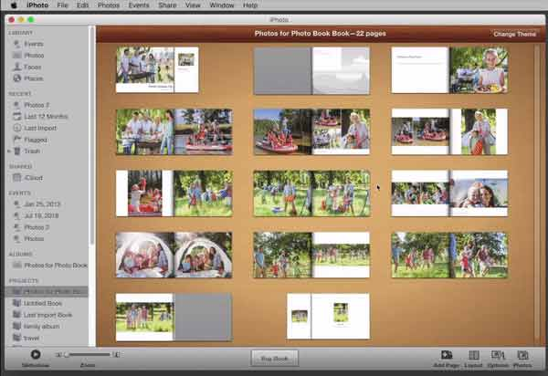 Export your iPhoto Book as a PDF File