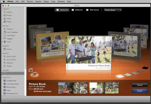 Switching between Apple Photo Book Themes