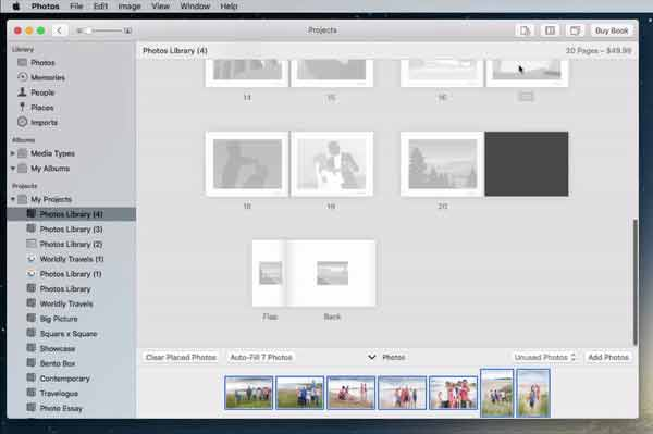 Add more pages to your Apple Photo Book